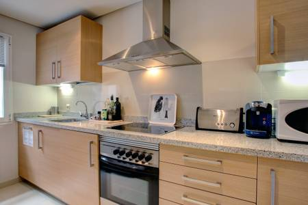 Fully fitted kitchen within the accommodation