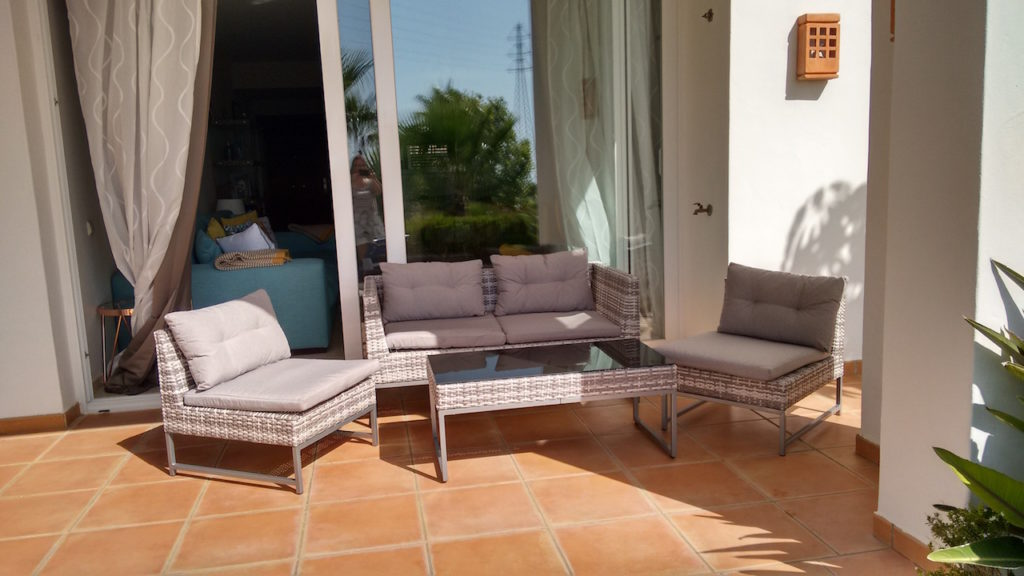Terrace area with outdoor furniture
