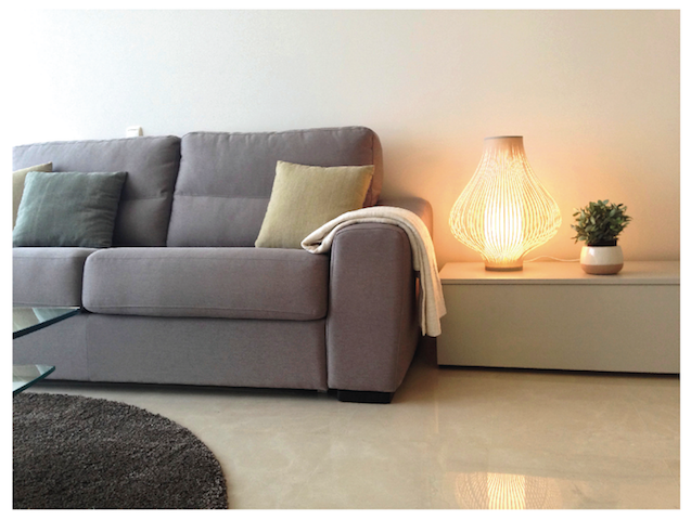 Image shows sleek designer furniture & sofa