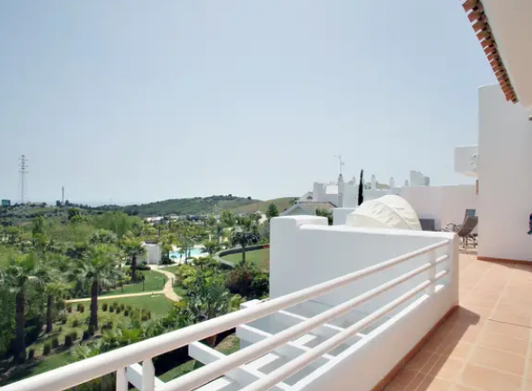 Image shows stuning terrace and views to pool & lagoon