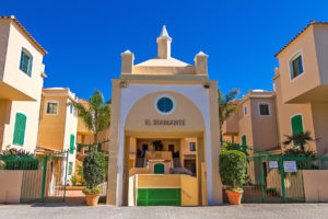 Imae shows the entrance to El Diamante in Casares Costa
