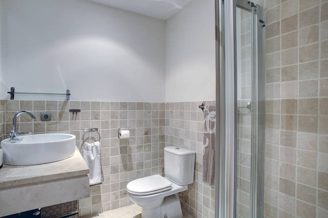 Image shows walk in shower