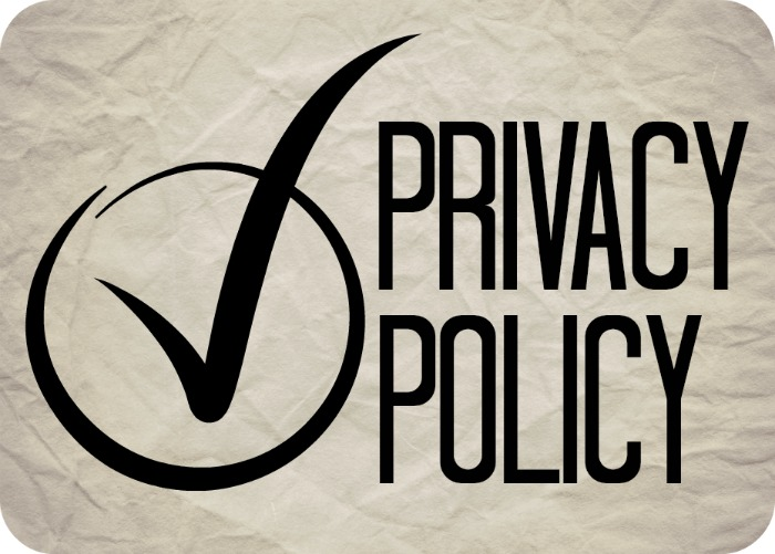 Image shows the words Privacy Policy with a tick that is circled.